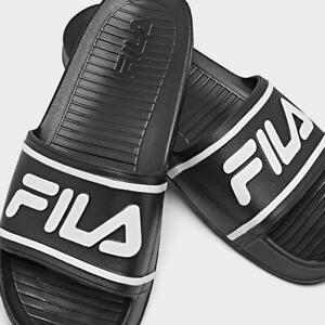 Fila Mens Sleek Slide Sandals Black Slip On