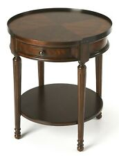 STOCKWELL ROUND SIDE TABLE - END TABLE -  CHERRY FINISH - FREE SHIPPING*