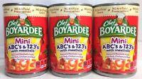 Chef Boyardee Mini ABC's 123's with Meatballs Pasta in Tomato Sauce ( 3 Cans )