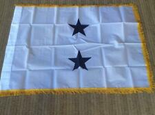 Us Navy Military Surplus 2 Star Rear Admiral Nyl-Glo 3x4 Foot White Gold Flag