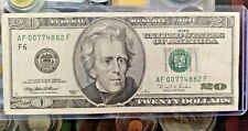 1996 - $20 TWENTY DOLLARS VINTAGE FEDERAL RESERVE NOTE AF 00774882 F