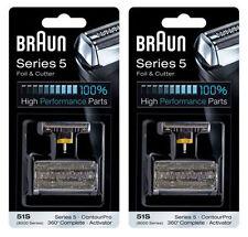 2Packs BRAUN 51S Series 5 Foil & Cutter / ContourPro, 530s-4, 550, 550s-3