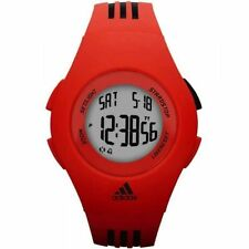 NWT Men's Adidas Red Rubber Quartz Watch with Digital Dial