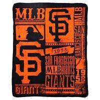 San Francisco Giants STRENGTH Design Large 50x60 Fleece Throw Blanket Baseball