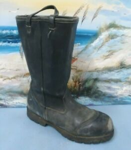 Ranger Combat  Firefighter Steel Toe Black Boots Mens 10 M  3065