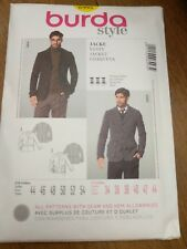 Burda 6993 Sewing Pattern Mens Jacket Size 34 36 38 40 42 44 Coat 2 Styles