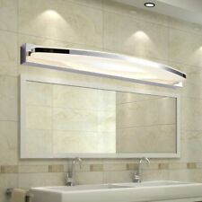 Led Bathroom Mirror Light Acrylic Lampshade Wall Lamp Steel Sconce Home Lighting