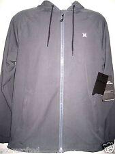 Hurley Mens Phantom Solid Zip up Water Repellent Jacket Grey Size Medium NWT