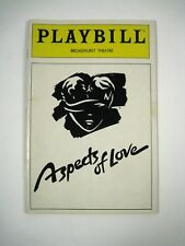 Aspects of Love Playbill February 1991 Broadhurst Theatre Sarah Brightman Lovett