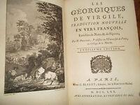 Géorgiques De Virgile, Traduction Nouvelle Delille,1770