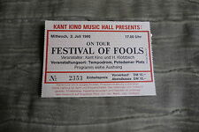 TICKET Festival of Fools 1980 GERMANY
