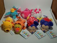 Lot Of 7 Disney Mini Cuddleez 6 in Plush NWT Pooh Mickey Tigger Dumbo And More