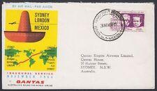 MEXICO, 1964. Return  Flight, Quantas, London - Mexico City - Sydney