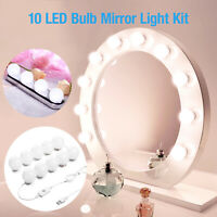 4/10 Bulbs Hollywood Style LED Vanity Dimmable Mirror Lamp Lights Kit For Makeup