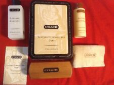 COACH #1047- Leathercare Tin Leather Cleaning and Care Collection, Hardly Used
