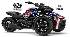 "Can Am Spyder F3 F3S Decal Graphic Wrap kit - ""Patriot USA. The Captain"""