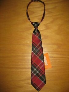 NWT Gymboree Party Plaid One Size Red Black Plaid Holiday Tie