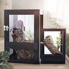 Acrylic Pet Reptile Holder Terrarium Habitat Breeding Box Turtle Tank Cage Black