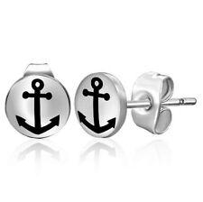 Anchor Earrings White - Stainless Steel - 7 mm (6)