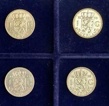 Lot Silbermünzen Niederlande 4 X 1 Gulden Juliana 1955 -1965 + 37 Münzen