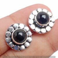 Black Onyx stud Earring 925 Sterling Silver Plated Earring Jewelry E-FP-127