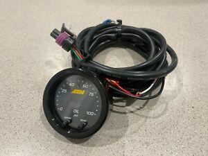 AEM 52mm Oil Pressure Gauge 0-100 PSI w/ Wiring Harness (no sensor)