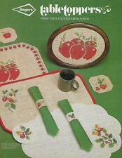Rogers Table Toppers Cross Stitch Patterns Book Apple Poppy Placemat Napkin Ring