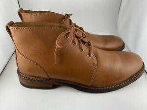 Men's Clarks Clarkdale Base Leather Chukka Boots Dark Tan - Size 11.5