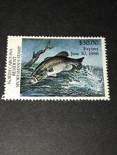 NORTH CAROLINA 1984-85-86 Resident Sportsman's License Stamps All 3 MNH N/G