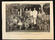 Original 1934 Dog Print / Bookplate - AIREDALE, Staff, Students & Dogs, Ardross