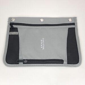 Five Star Pencil Pouch For 3 Ring Binder Inner 2 Zipper Holder Gray, Black