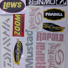 Fishing Decals wholesale lot of 12 stickers,