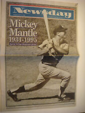 1995 Newsday Newspaper Death of Mickey Mantle New York Yankees