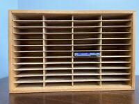 NAPA VALLEY BOX COMPANY 48 Slot NES Nintendo Game Cartridge WOOD Storage Holder