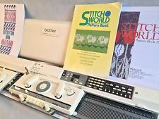 Brother electronic knitting machine package KH 965 +  KR 850 ribber serviced