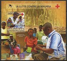 CENTRAL AFRICA  2015 BATTLE AGAINST MALARIA RED CROSS  SOUVENIR SHEET MINT NH