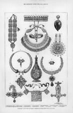 1876 antica stampa-London South Kensington Principe Galles Gioielleria Regali (194)