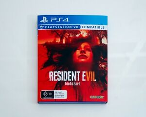 Resident Evil VII Biohazard 7 PS4 Game with Custom Slipcover - Great Condition