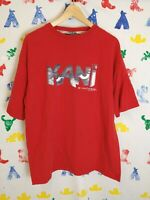 Vintage Karl Kani T Shirt Size XL Red Tupac Hip Hop Old School