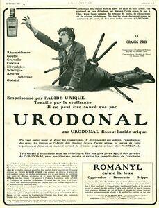 Publicité ancienne pharmaceutique Urodonal 1925 grand format issue de magazine
