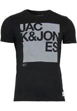 Magliette da uomo nere JACK & JONES taglia XXL