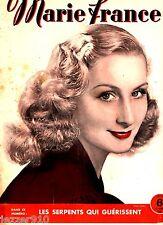 MARIE FRANCE n°21 # 13/04/1945 # TETE DE SERIE