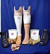 Prosthetic Left & Right Legs Below the Knee Socks Pins and Boots