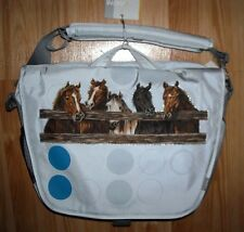 Girls HORSE Laptop Messenger bag~FENCE HORSES~NWT~Equine~RANIPAK~