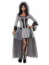 Skeleton Bride Corpse Dead Ghost Mexican Day Of The Dead Womens Costume