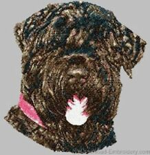 Large Embroidered Zippered Tote - Black Russian Terrier Dle1485