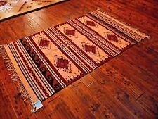 "NWT Zapotec Handwoven Hand Dyed Rancho 100% Wool Rug 48"" X 72"""