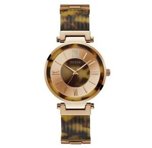 AUTHENTIC GUESS LADIES' SOHO WATCH GOLD TONE RRP:$449 W0638L8 Brand New