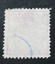 China 1885 Small Dragon Stamp 3c Mauve (2) K -077