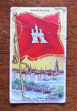 1800s Hamburg Alster Basin Sweet Caporal Little Cigars Tobacco Card Flag Series